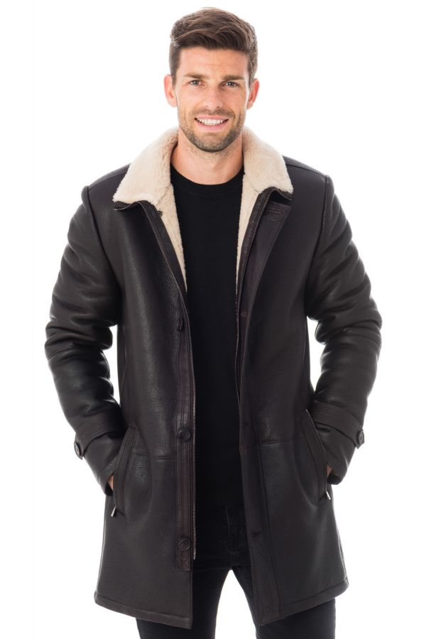 Veste homme 29th october MENDEL MERINOS NOIR cuir