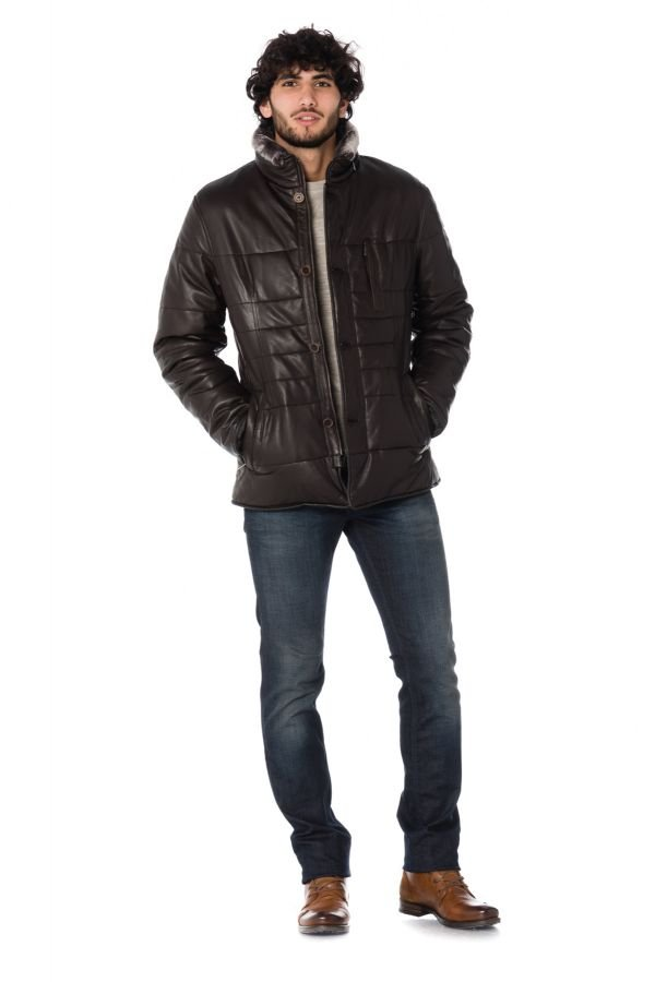 Veste Homme Bugatti 5621 FEATHER NAPPA 751 BROWN
