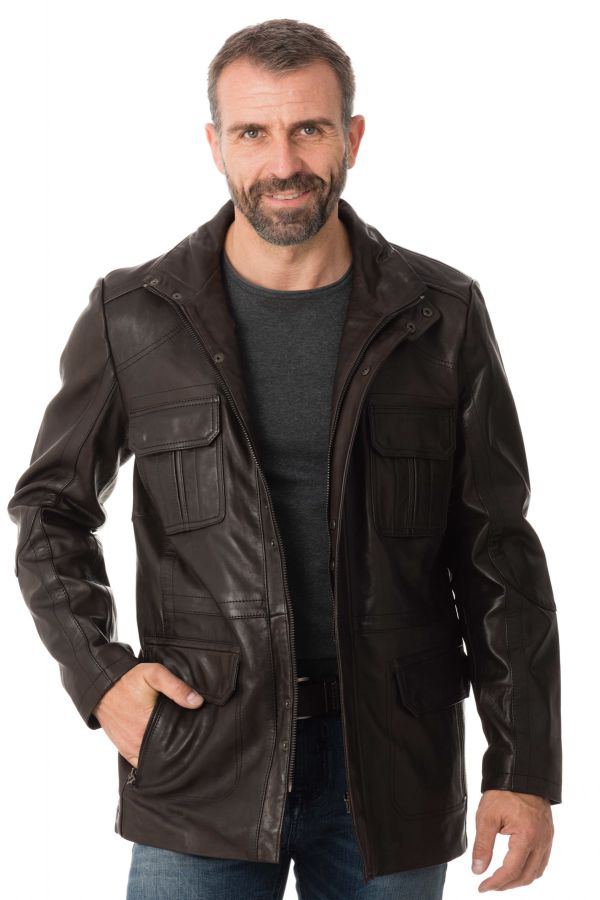 Veste Homme Daytona LANTERN SHEEP POLO BROWN