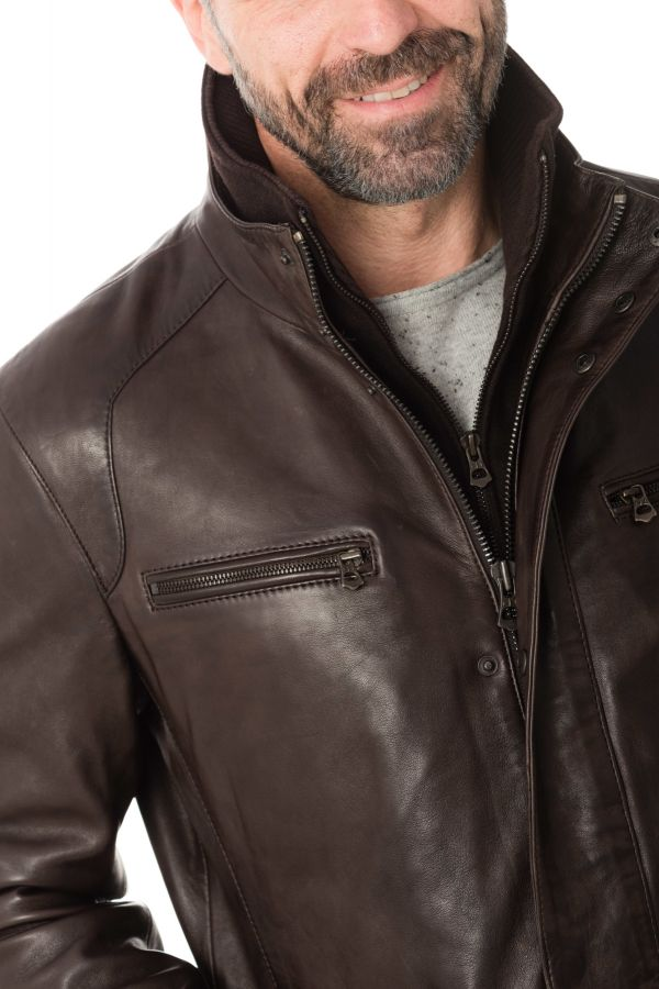Veste Homme Daytona CLINTON SHEEP POLO BROWN