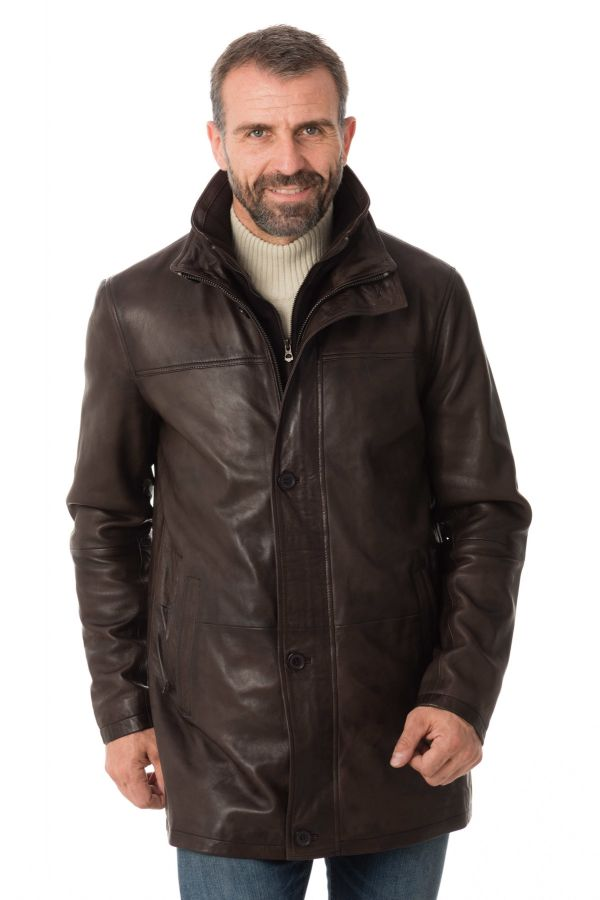 Veste Homme Daytona TYLER SHEEP POLO BROWN
