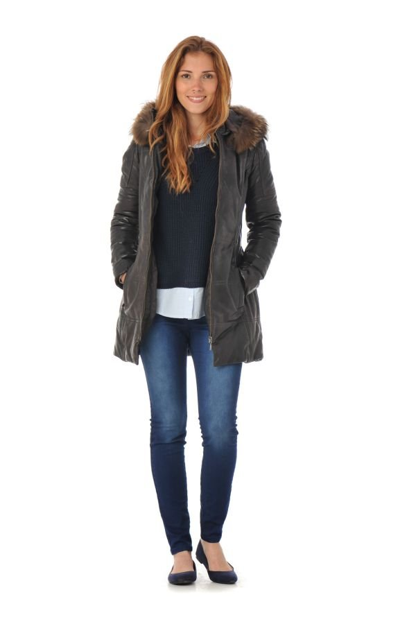 Veste Femme Daytona APENE FUR SHEEP AOSTA REDDISH BROWN FOURRURE FAUVE