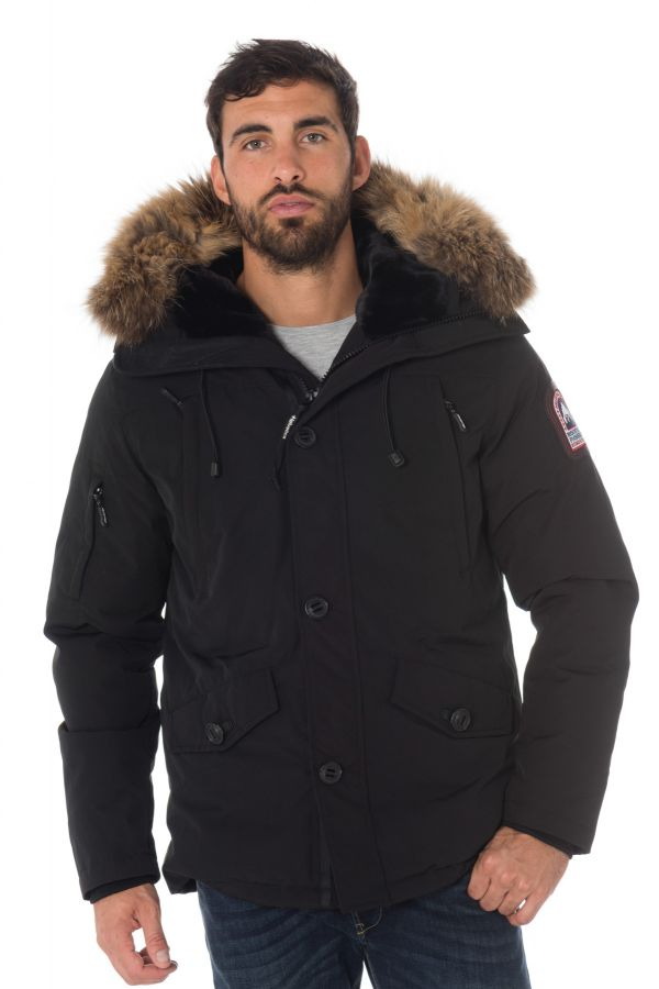 Veste Homme Helvetica ONTARIO MEN RACCOON EDITION BLACK