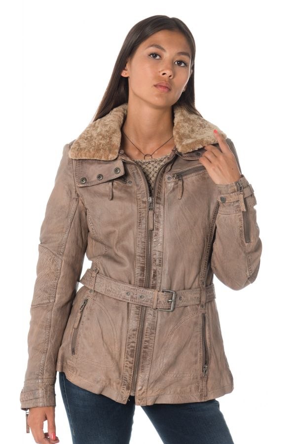 W18 Taupe Femme Coleen Mauritius Veste 1wZX4n