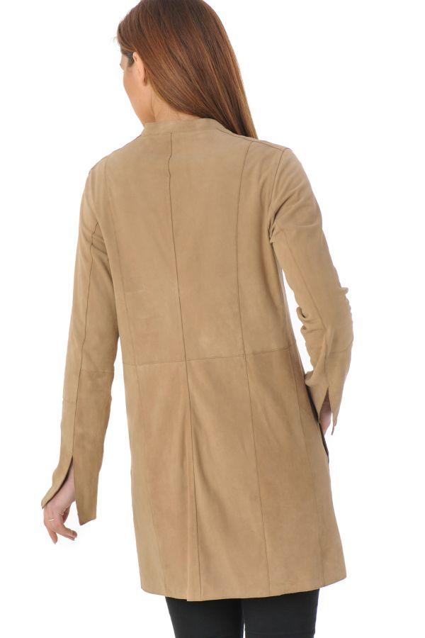 veste femme oakwood keep beige 513 cuir. Black Bedroom Furniture Sets. Home Design Ideas