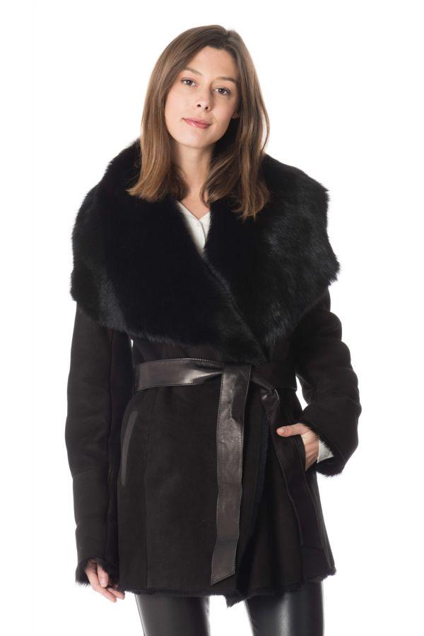 Veste style cuir noire, Toscane, taille 1