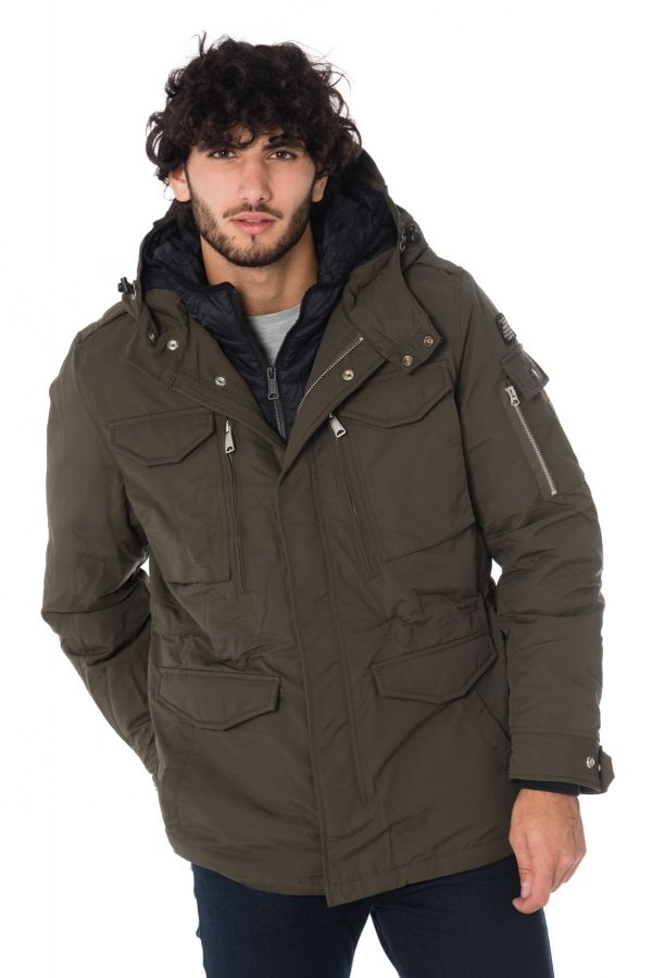 Veste Homme Schott SMITH18 KAKI/BLACK
