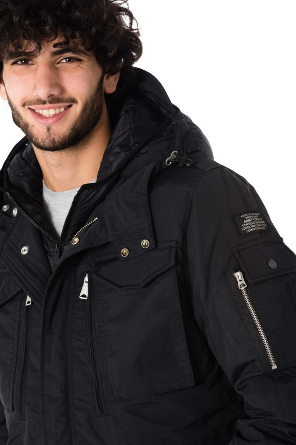 Veste Homme Schott SMITH18 BLACK/BLACK