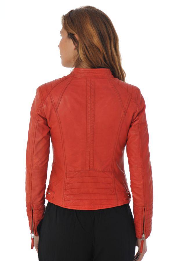 blouson femme serge pariente louise rouge cuir. Black Bedroom Furniture Sets. Home Design Ideas