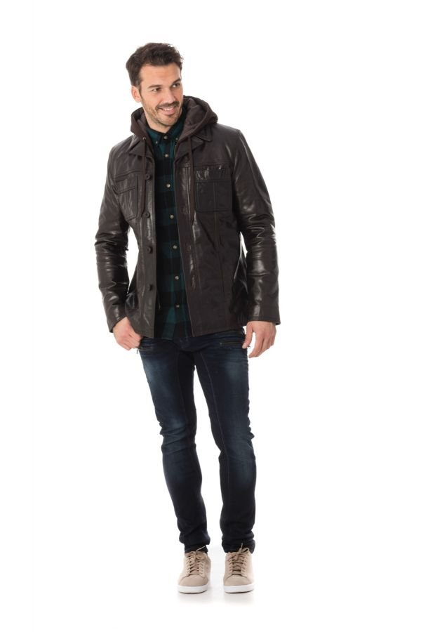 Veste Homme Serge Pariente KANSAS BROWN