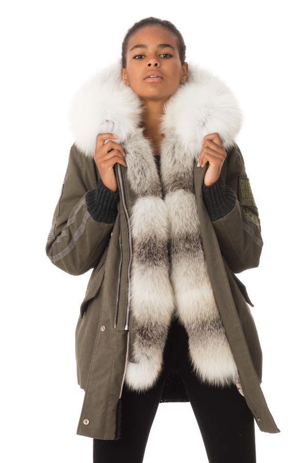 Veste Femme Wild Arctic By Flo & Clo NADIS TEX + FUR VOLPE JANET VERDE