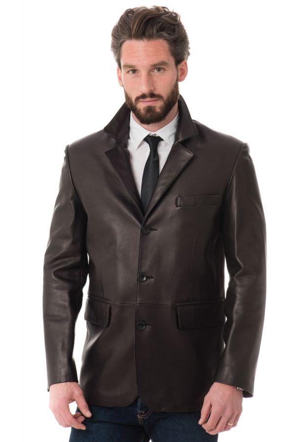 veste homme giovanni blazer h900 ag prestige noir cuir. Black Bedroom Furniture Sets. Home Design Ideas