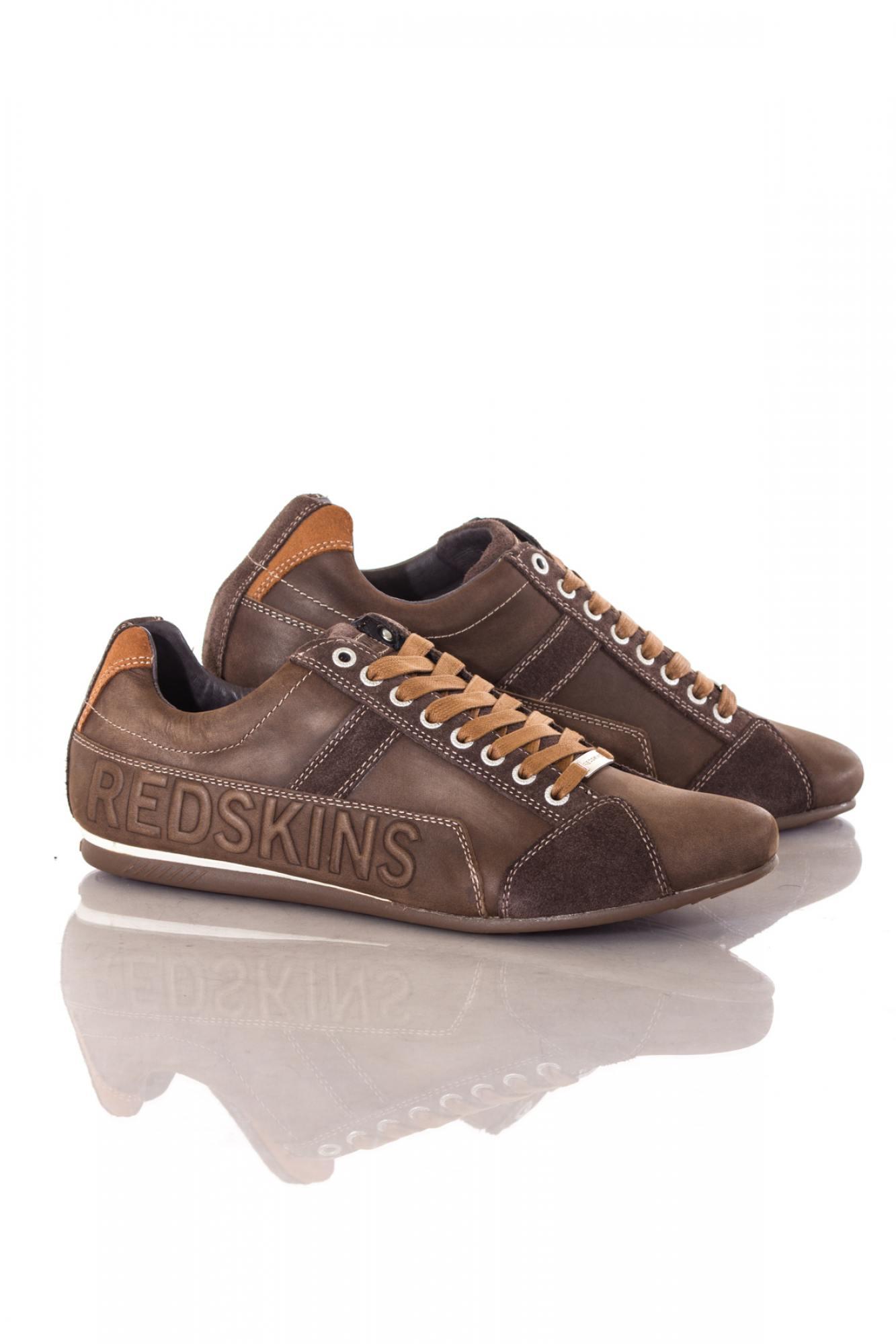 baskets en cuir homme chaussures redskins cuesto chocolat. Black Bedroom Furniture Sets. Home Design Ideas