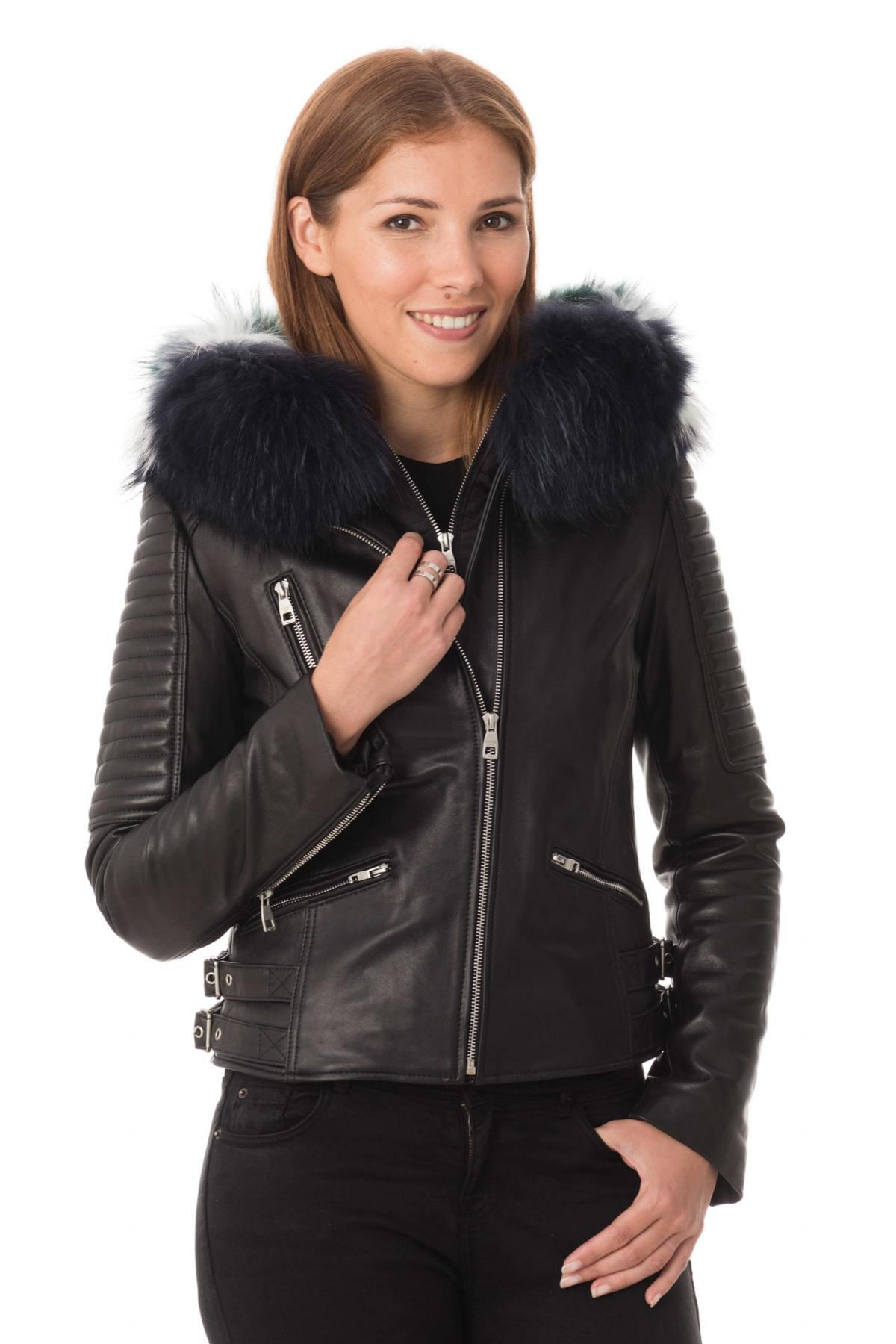 Veste femme cuir luxe