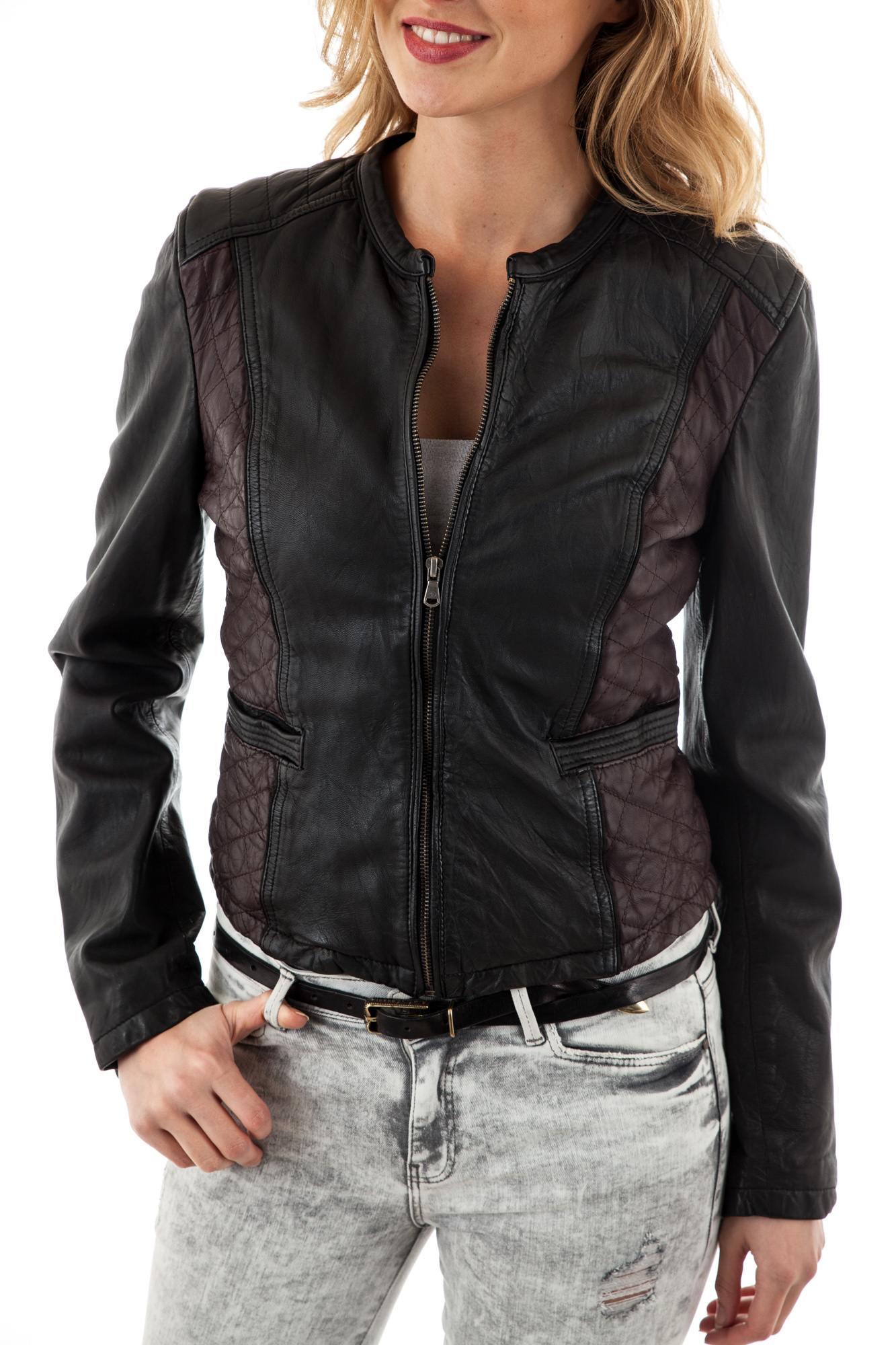 bcc101cd07f4 Blouson Femme Oakwood FAME BI BORDEAUX - Cuir-city.com