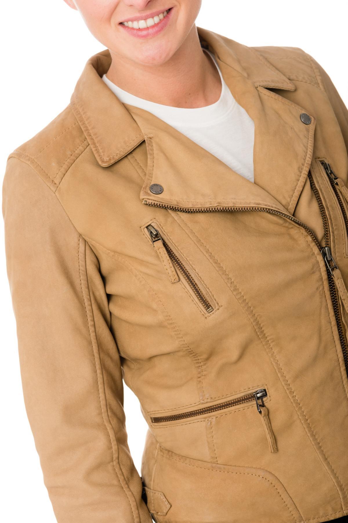 Mujer Camera Jacket 517 Wenxqisz Cuero Hazelnut Oakwood Nubuck E2e9IYHWD