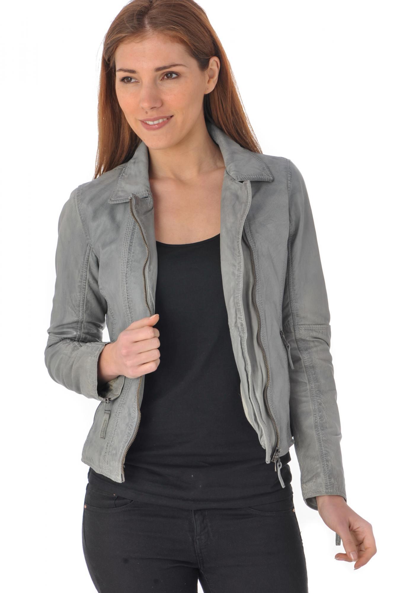 veste en cuir noir pour femme pas cher les vestes la. Black Bedroom Furniture Sets. Home Design Ideas