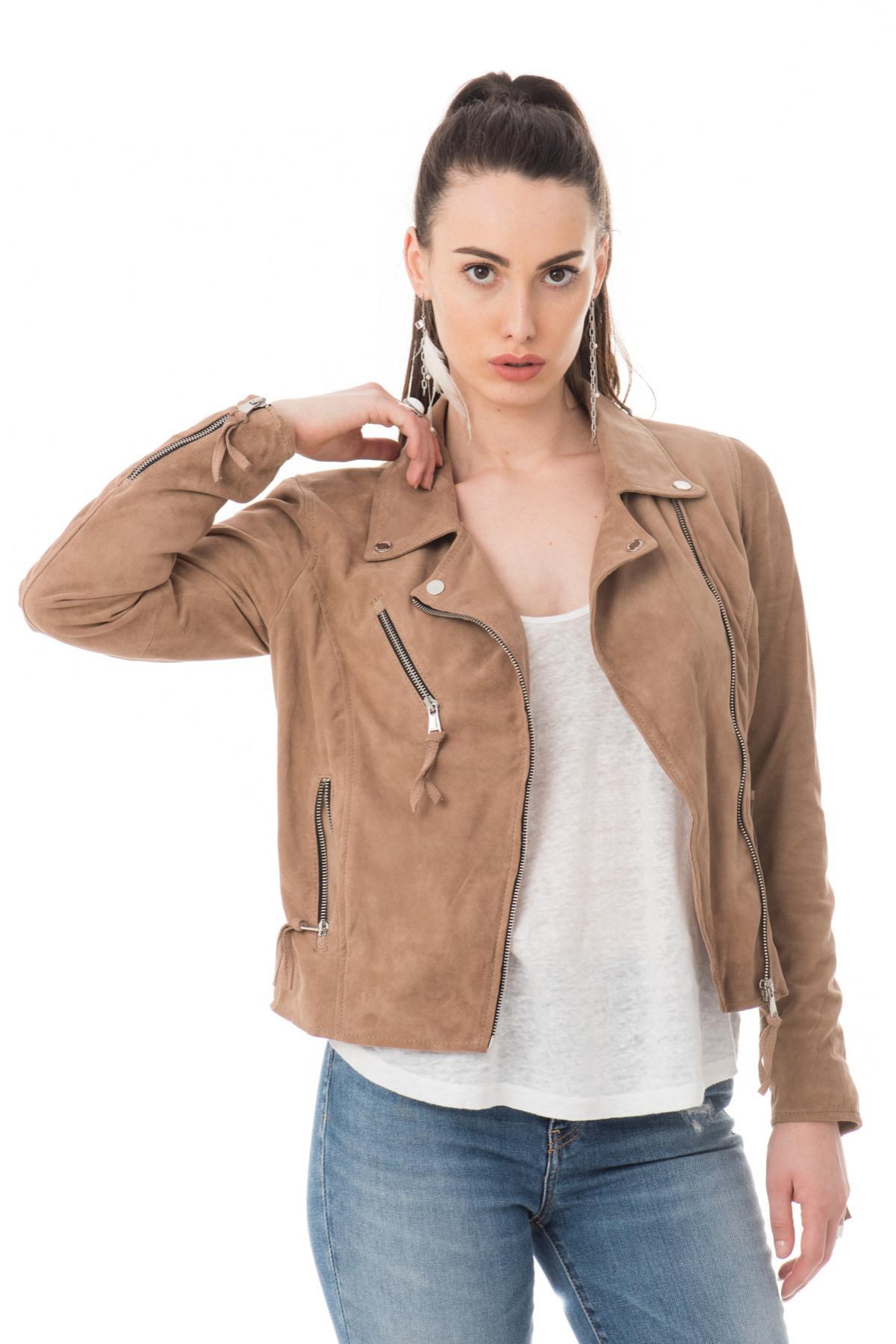 Vente privee veste en cuir femme