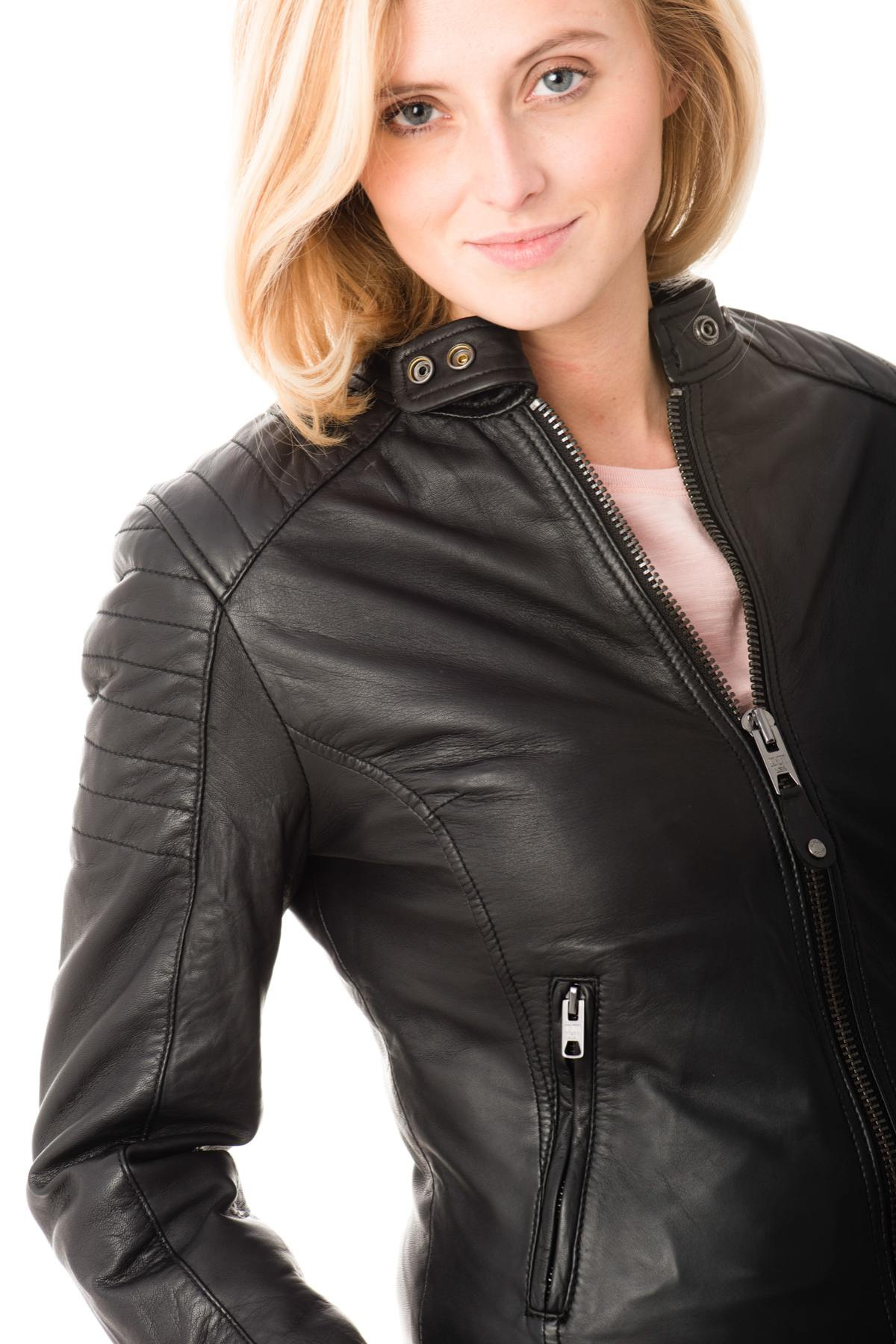 Chaqueta 84whxqx de Leather Black Schott Lcwharvey mujer DW92IYEHe