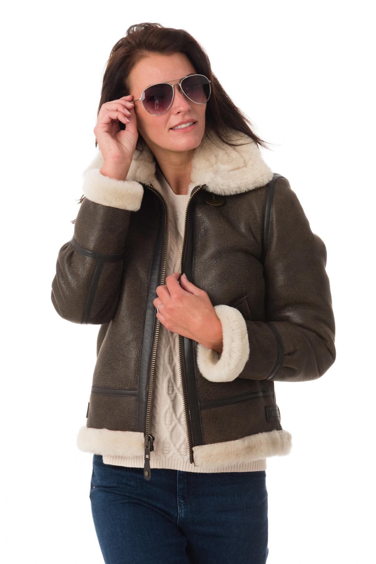 Blouson Femme Schott Lcw1257 Dark Brown Cuir City Com