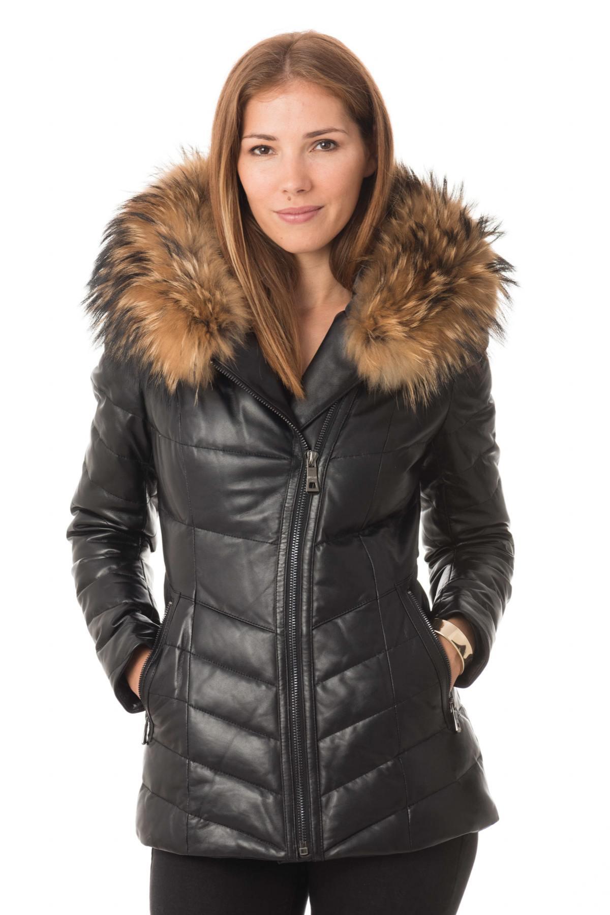 Doudounes en cuir Femme Doudoune cuir hiver Cuir City