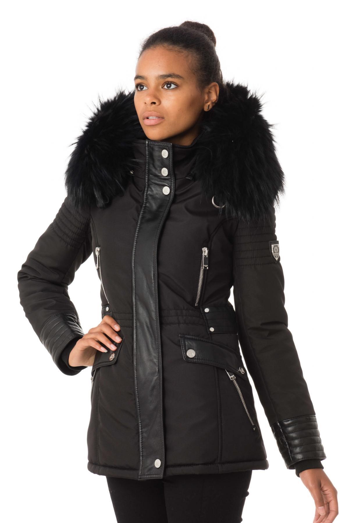 plus récent 3ae5e 6464f Veste Femme horspist NEW MANDALA NOIR COL NOIR - Cuir-city.com –  spécialiste du cuir