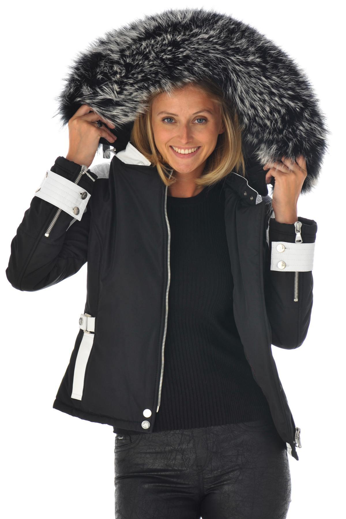 Blouson Femme horspist MILANO BIS NOIR BLANC COL SILVER ZZ Cuir – spécialiste du cuir