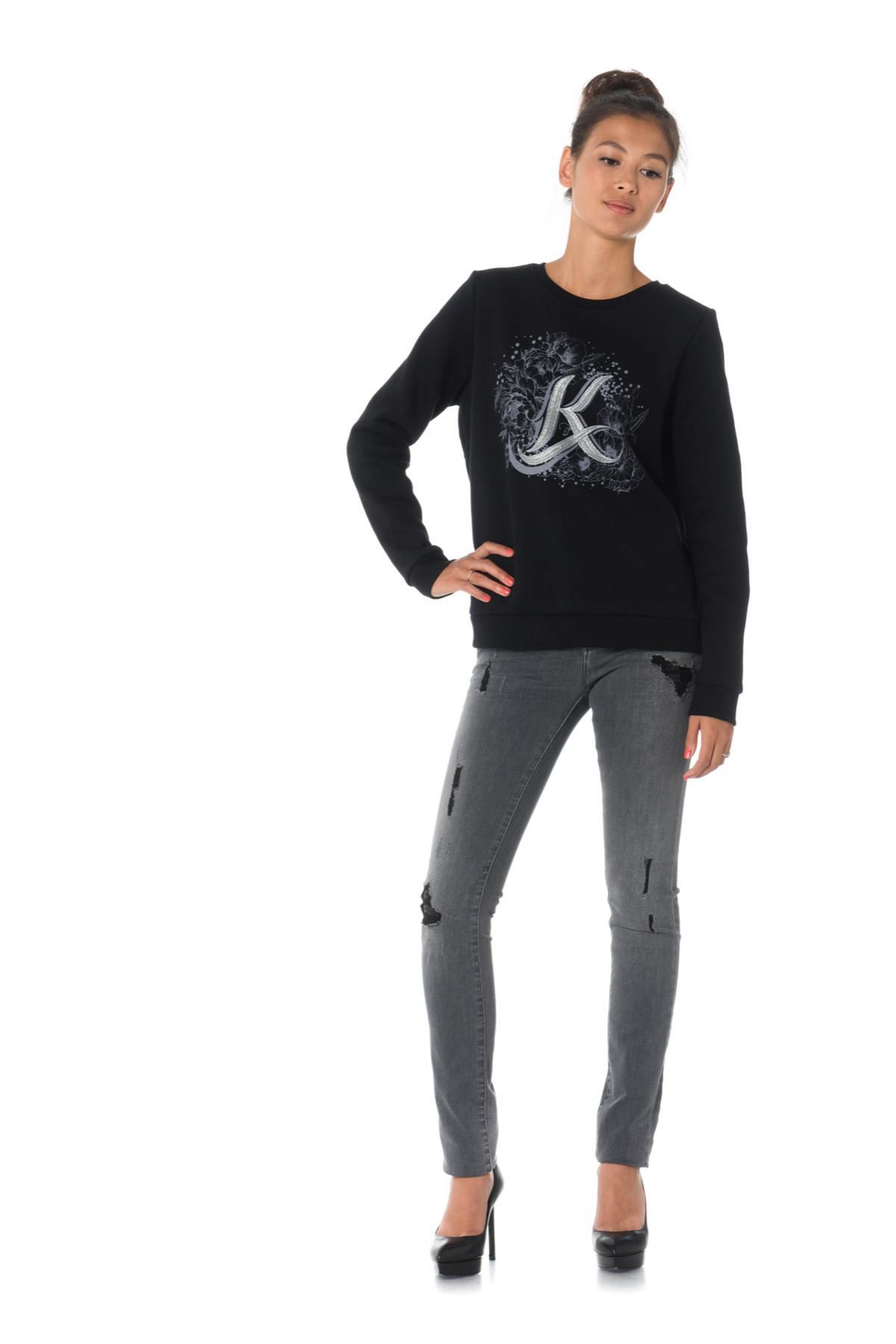 Pullsweatshirt Cuir Kaporal Femme Tarax Black 87q8aO41w