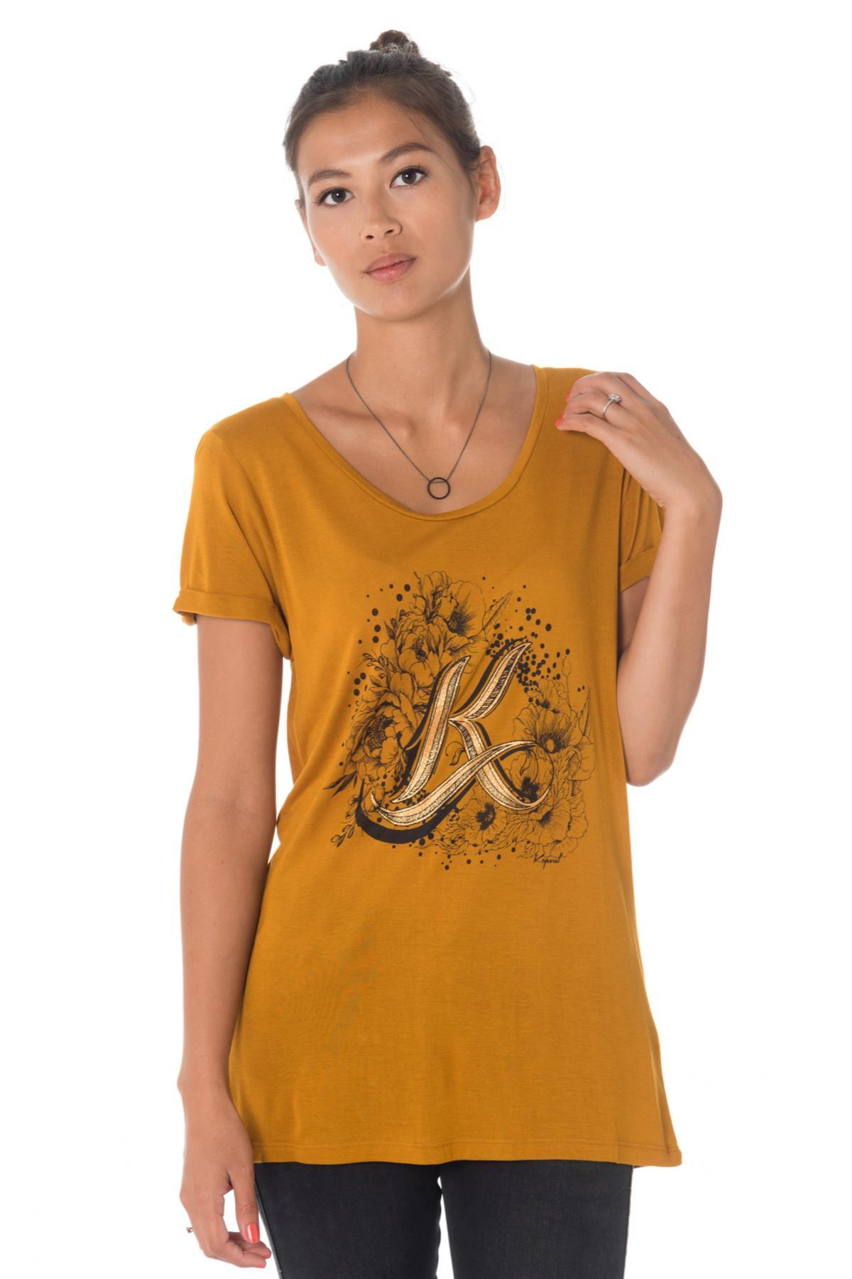 Tee Shirt Femme Kaporal GRAVY MIEL Cuir </p>                 <!--bof Quantity Discounts table -->                                 <!--eof Quantity Discounts table -->                  <!--bof Product URL -->                                 <!--eof Product URL -->             </div>             <div id=