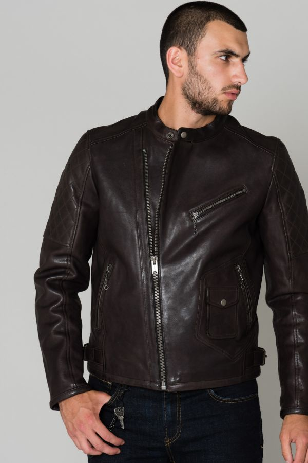 Blouson Homme Daytona GREENWISH COW VEG DARK BROWN