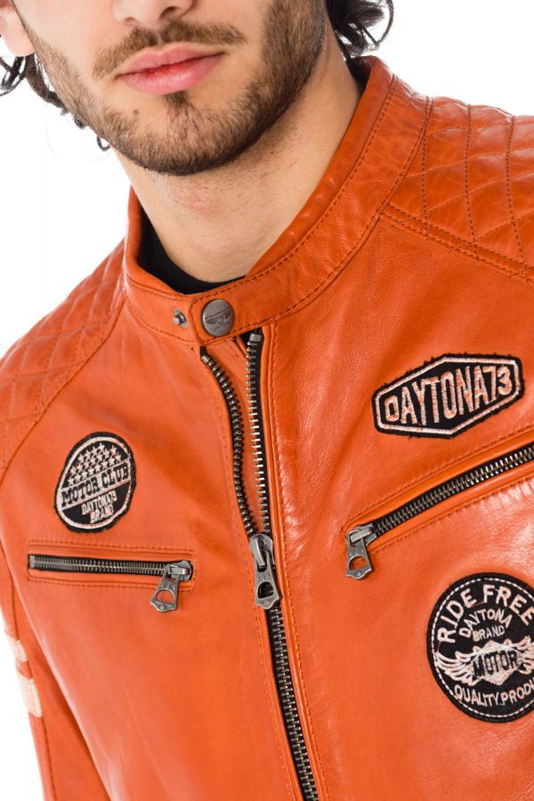 Blouson Homme Daytona WALKER SHEEP ATLAS BURNT ORANGE