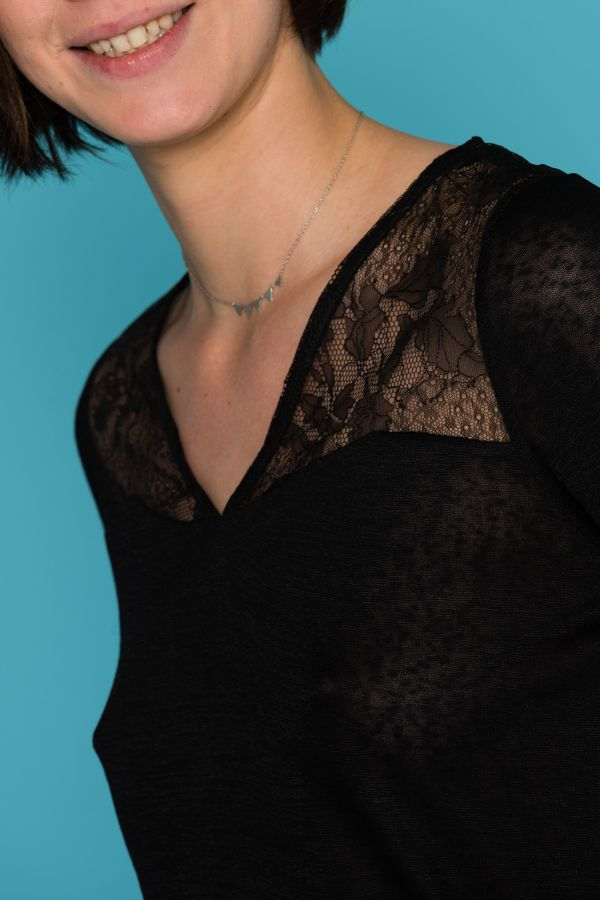 Tee Shirt Femme Grace Et Mila SHALINI NOIR