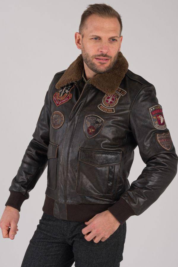 Blouson Homme Redskins PERRY DISCOVERY BROWN