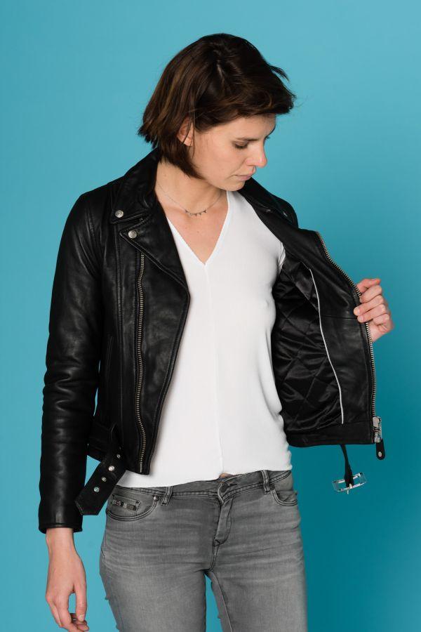 Blouson Femme Schott LCW8618 BLACK