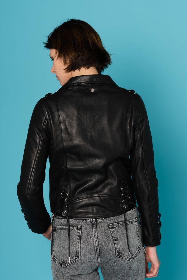 Damen Jacke Schott LCW8617 BLACK