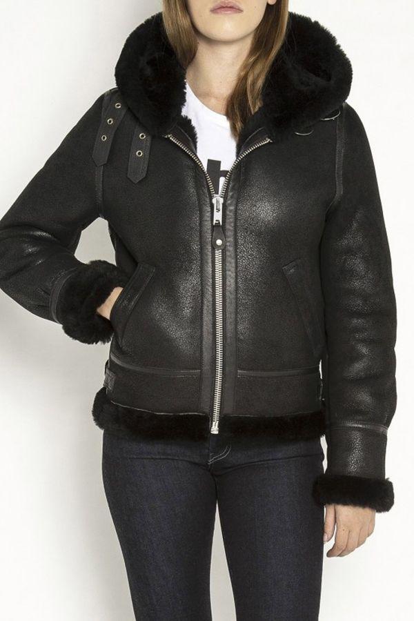 Blouson Femme Schott LCW1257H BLACK