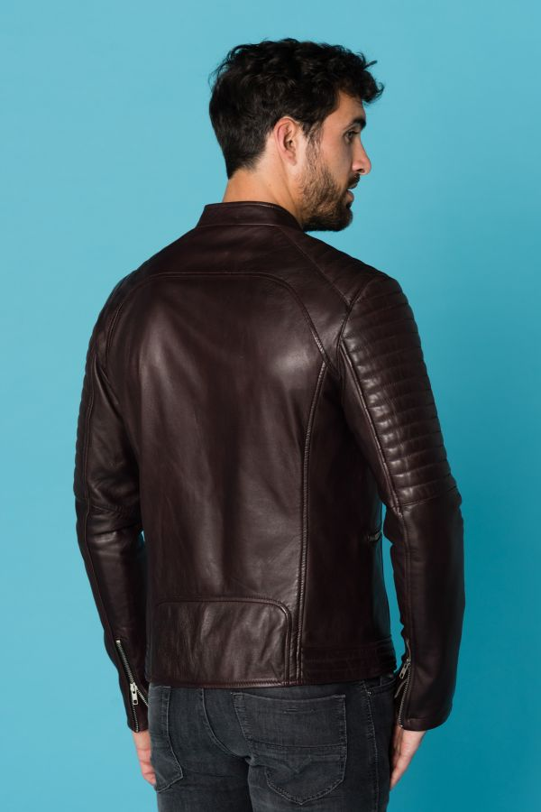 Blouson Homme Serge Pariente NEW LUX DARK WINE