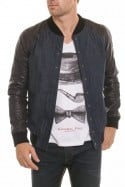 Blouson Homme Napp Jeans COLLEGE DENIM JACKET BLACK/BLUE