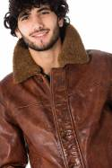 Blouson Homme Daytona FARMAN COW YEGER ANTIQUE COGNAC