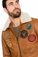 Blouson Homme Daytona MYTHIC + FUR SHEEP PETROL COGNAC