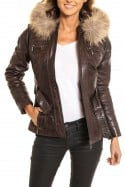 Veste Femme rose garden THALIA SHEEP AOSTA REDDISH BROWN