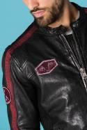 Blouson Homme Cityzen FULL SPEED BLACK/OXBLOOD
