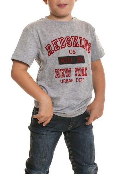 Tee shirt gris Enfant Redskins              title=