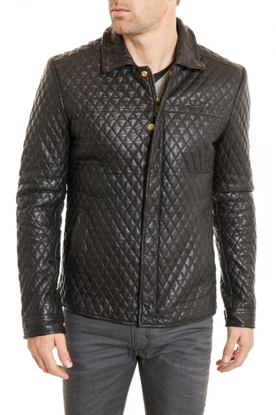 Blouson Homme tendance en cuir Scotch and Soda              title=