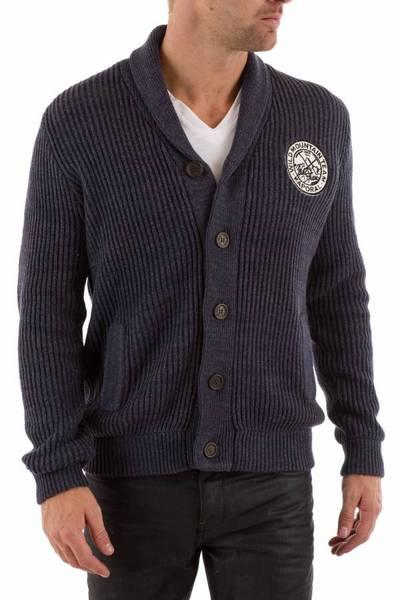 nachtblauer Herren-Cardigan KAPORAL aus Baumwolle