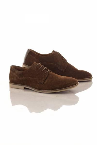 Chaussures pour Homme Style Daim en cuir Marron foncé