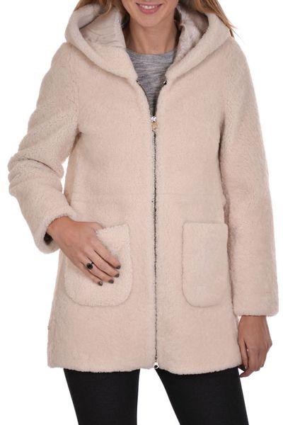 Veste en mouton SERGE PARIENTE avec capuche