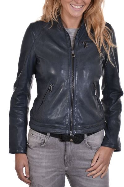 Blouson Femme rose garden KELLY LAMB RUBY NAVY BLUE