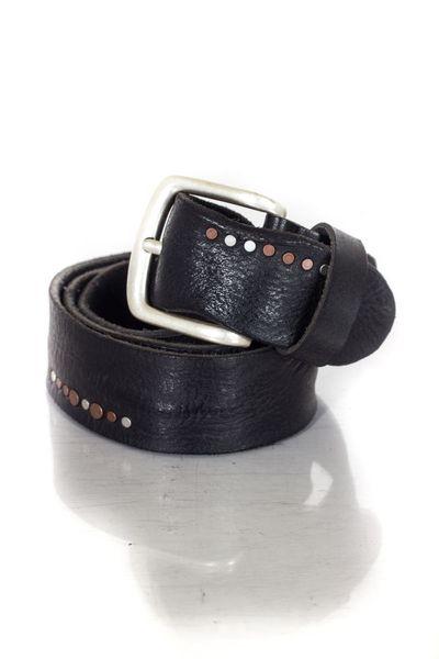 schwarzer Ledergürtel VANZETTI aus Vachettenleder