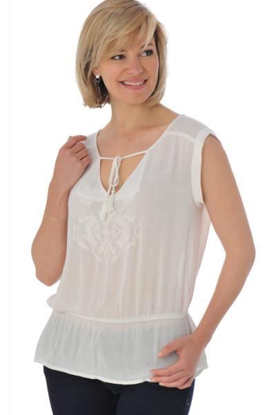 Tee Shirt Femme Kaporal NAHU OFF WHITE P16